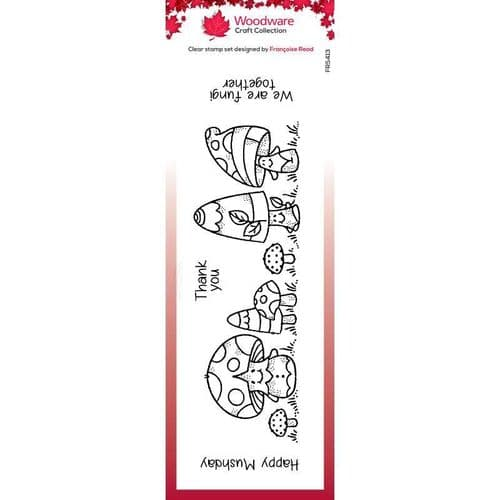 Woodware Clear Stamp -Mushy Friends