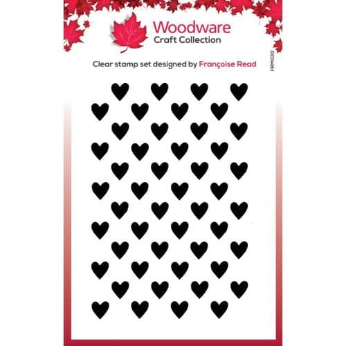 Woodware Clear Stamps- Mini Heart Background