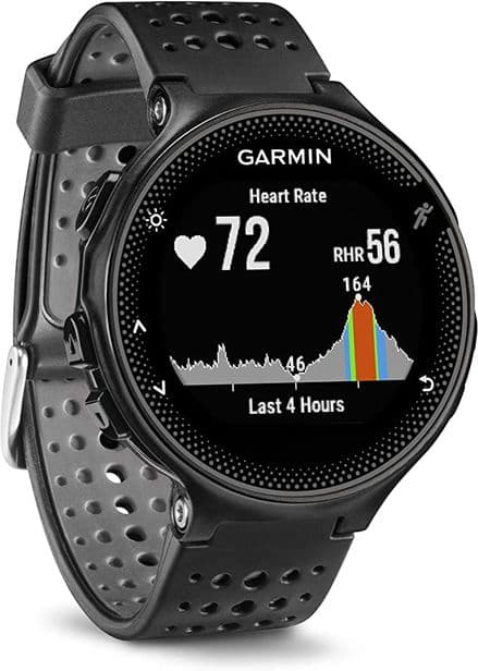 Garmin Forerunner 235 GPS Running Watch with Elevate Wrist Heart Rate and Smart Notifications, BlacK