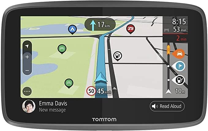 TomTom Campervan and Caravan Sat Nav GO Camper with Campervan and Caravan POIs, Updates via Wi-Fi, L