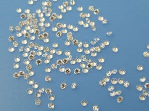 2.5mm Round Clear AAAA Cubic Zirconia (pk of 10)