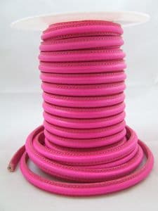 Omega Leather Hot Pink (10x5mm) per metre