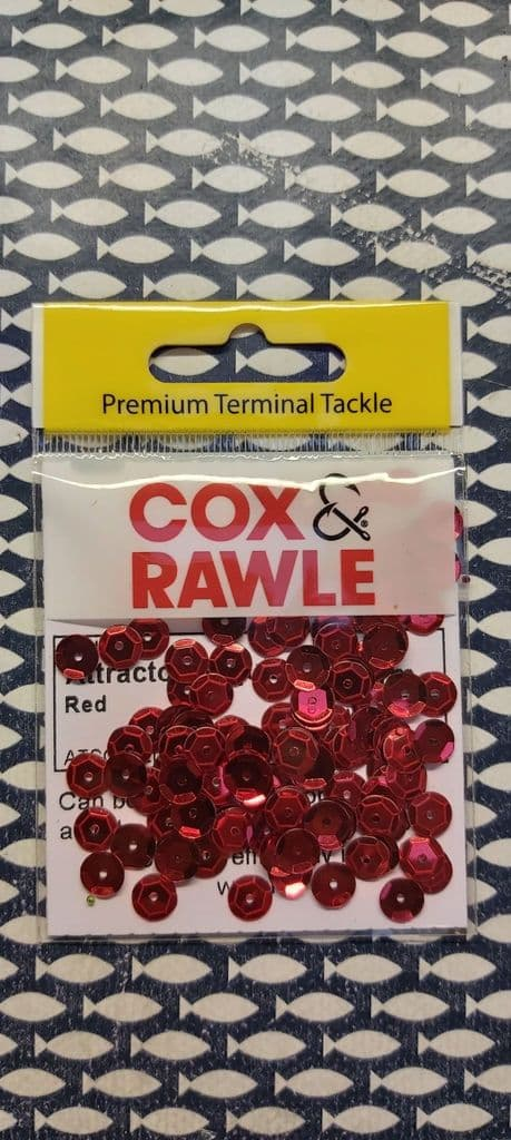 Cox & Rawle 6mm Sequins in packs of 100 - Red