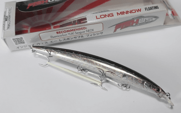 FishUs Long Minnow 12cm 13g Floating Minnow - Anchovy