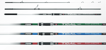 Penn Tidal 3 piece Surf Rods - 4 casting weights