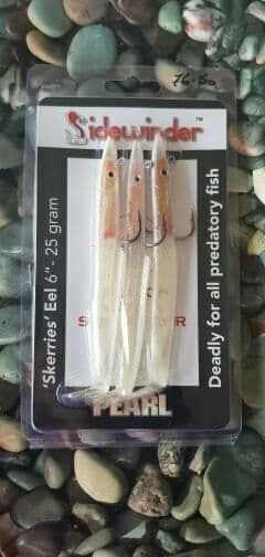 "Sidewinder Skerries eels - 6"" 25g 5 colours....Pollack, Bass, Lure fishing"