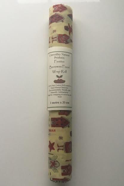 Festive Beeswax Foodwrap Roll