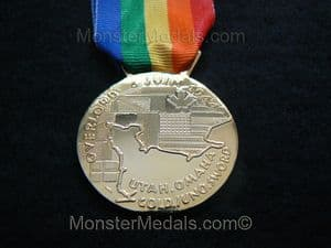 FULL SIZE OPERATION OVERLORD COMMEMORATIVE MEDAL WITH RIBBON.