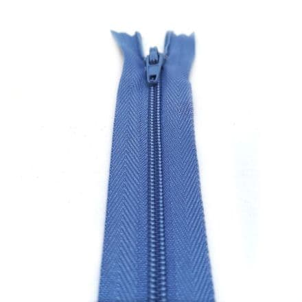 22 Inch Closed End Nylon Teeth Zips - 29 Colours