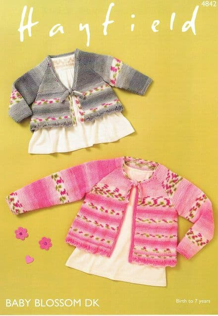 Hayfield Babies Tops Knitting Pattern in Baby Blossom DK (4842)