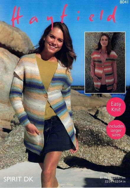 Hayfield Ladies Jacket & Waistcoat Knitting Pattern in Spirit DK (8041)