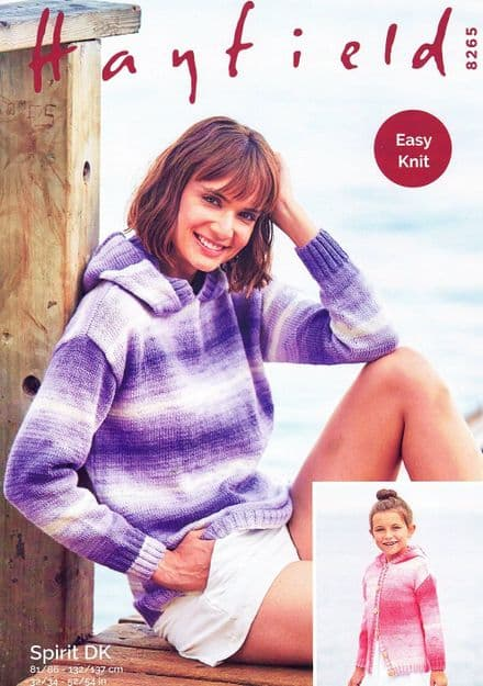 Hayfield Ladies Sweater & Jacket Knitting Pattern in Spirit DK (8265)