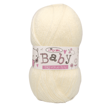 King Cole Baby 3Ply - 100g - Cream
