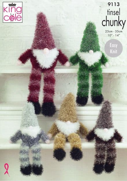 King Cole Gnomes Knitting Pattern in Tinsel Chunky (9113)