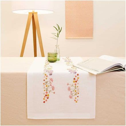 Rico Autumn Flower kit Table Runner Embroidery Kit