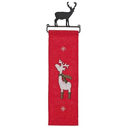 Rico Christmas Elk Wall Hanger Cross Stitch Kit