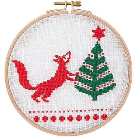 Rico Christmas Fox Cross Stitch Kit