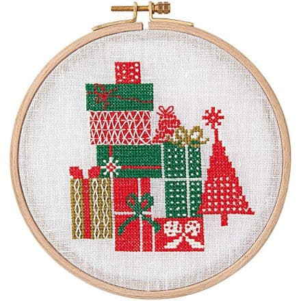 Rico Christmas Gifts Cross Stitch Kit
