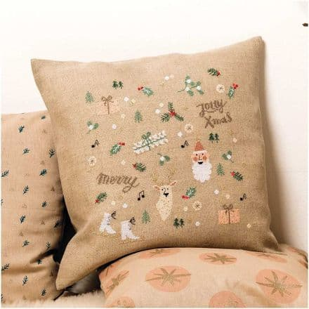 Rico Christmas Motifs Cushion Embroidery/Cross Stitch Kit