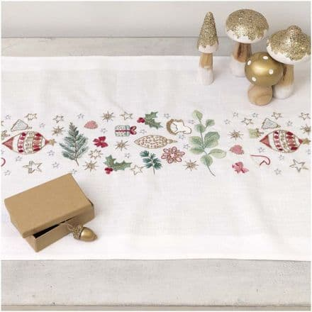 Rico Christmas Star Bells Table Runner Embroidery Kit