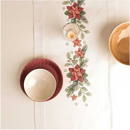 Rico Christmas Stars kit Table Runner Embroidery Kit