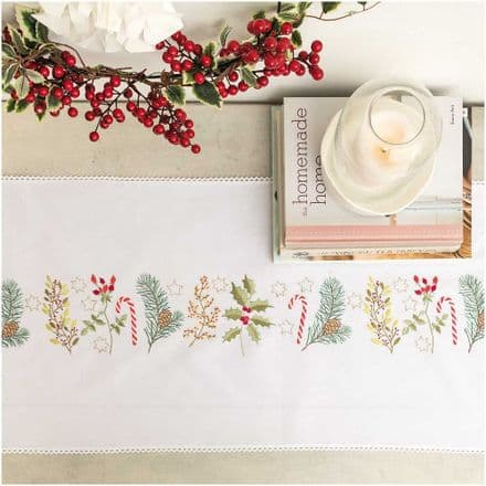 Rico Christmas Wreath Table Runner kit Embroidery Kit