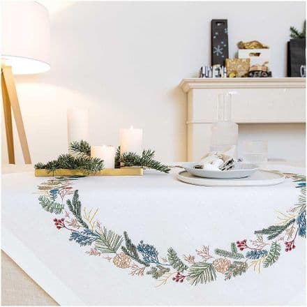 Rico Fir Wreath Table Cloth Embroidery Kit