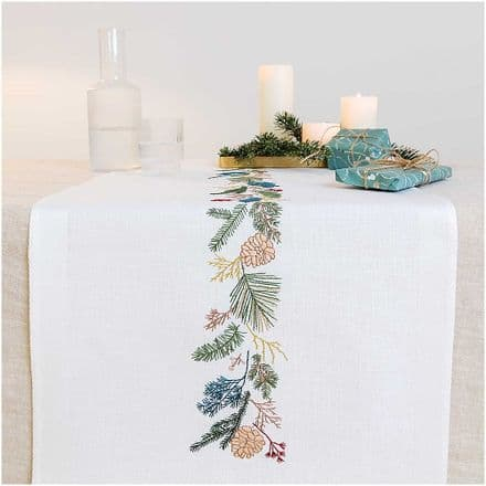 Rico Fir Wreath Table Runner Embroidery Kit