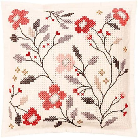 Rico Flower Tendril Felt Cushion Embroidery Kit
