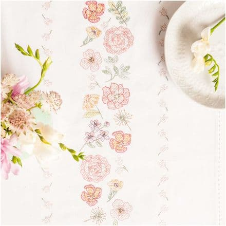 Rico Flowers Pack Table Runner Embroidery Kit