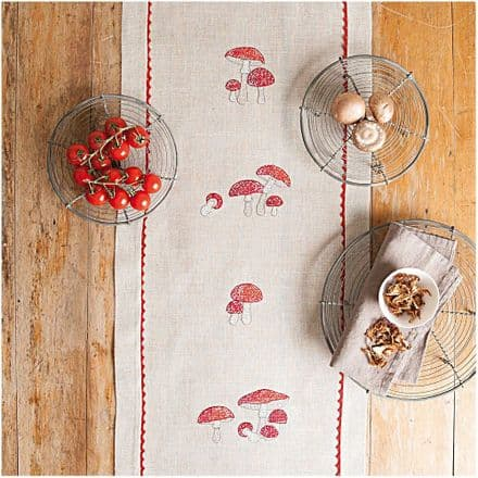 Rico Fly Agaric Table Runner Embroidery Kit