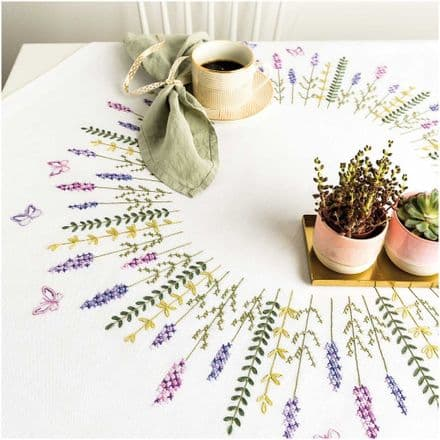 Rico Lavender Wreath Table Cloth Embroidery Kit
