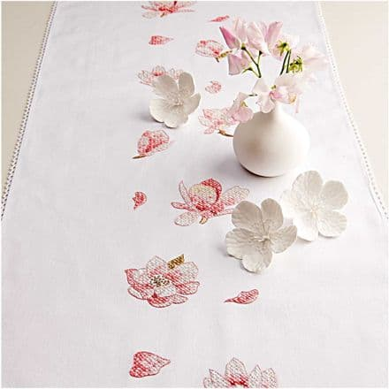 Rico Magnolia Table Runner Embroidery Kit