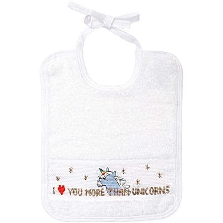 Rico Unicorn Bib Cross Stitch/Embroidery Kit