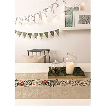 Rico Wreath with blossoms Table Runner Embroidery/Cross Stitch Kit