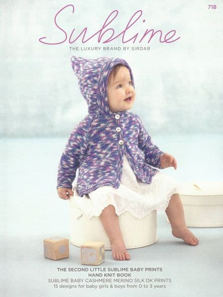 Sublime Baby Cashmerino Silk Prints DK Knitting Pattern Book - 15 Designs (718)