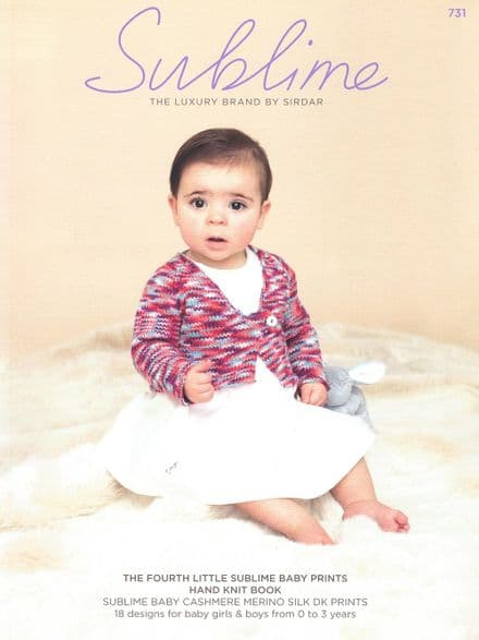 Sublime Baby Cashmerino Silk Prints DK Knitting Pattern Book - 18 Designs (731)