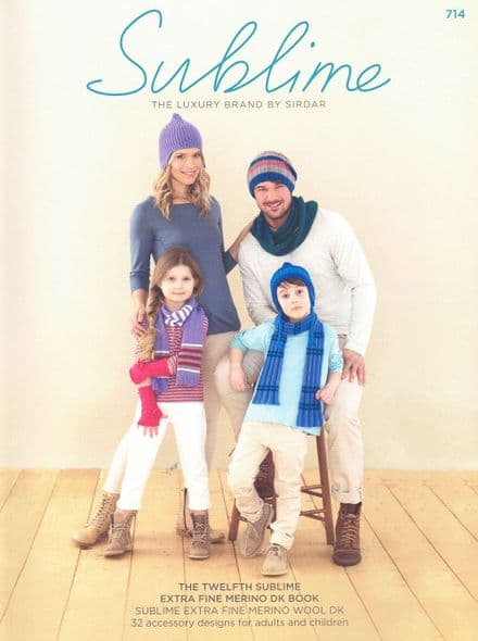 Sublime Extra Fine Merino Wool DK Knitting Pattern Book - 32 Designs (714)