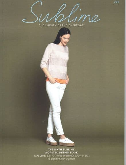 Sublime Worsted Aran Knitting Pattern Book - 16 Designs (722)