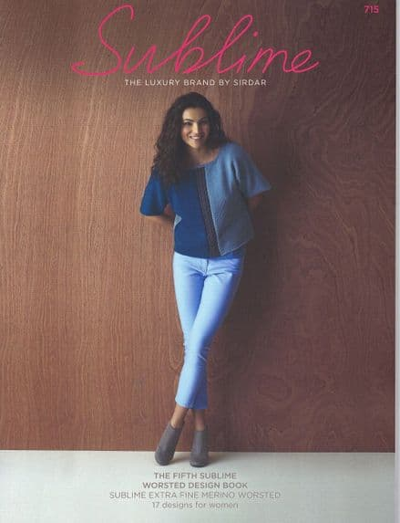 Sublime Worsted Aran Knitting Pattern Book - 17 Designs (715)