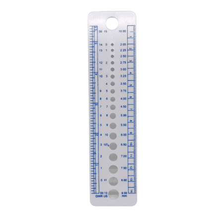 The Wool Factory Knitters Gauge (Needle Size Converter)