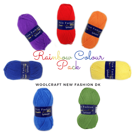 Woolcraft New Fashion DK - Rainbow Colour Pack