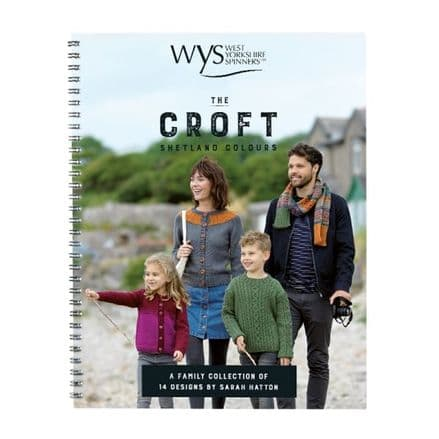 WYS The Croft Shetland Colours Family Collection 14 Designs Hand Knit Book