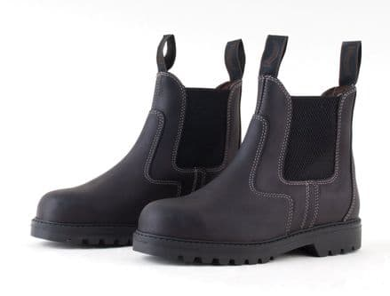 Paddock boots - safety boots with steel toe cap