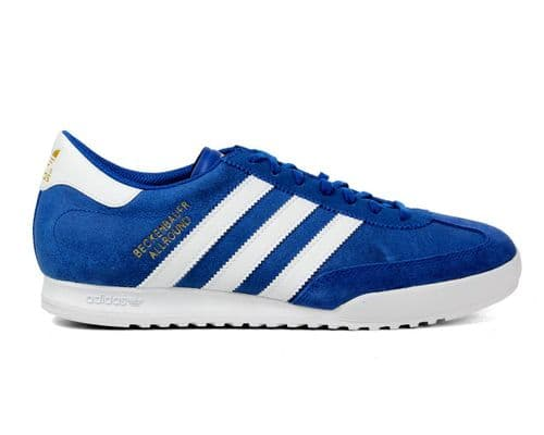 Adidas Originals Beckenbauer Blue White Stripes Suede Leather Trainers