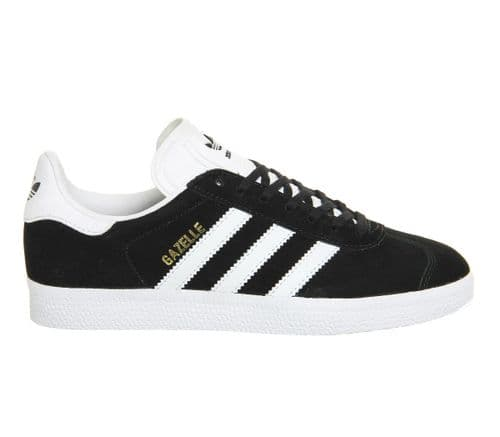 Adidas Originals Men's Gazelle Black Suede Leather Casual Trainers