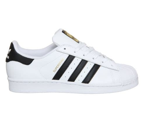 Adidas Originals Men's Superstar 2 White Black Stripe Leather Retro Trainers