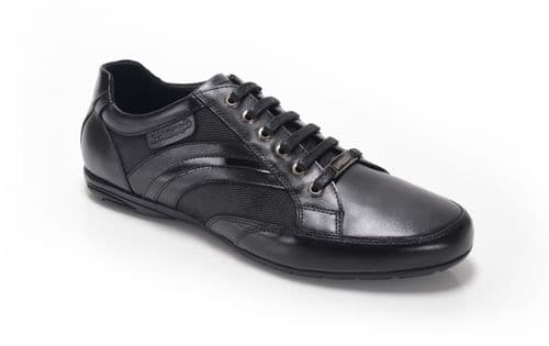 Bambooa Form  Black Leather Mens Designer Casual Shoes Trainers New