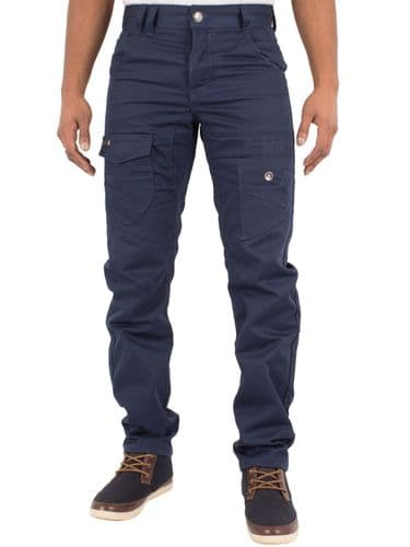 ETO New Men's Designer Straight Tapered Fit Navy Chino Twill Fabric Jeans