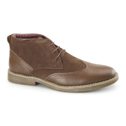 Front Tan Suede Leather Mens Chukka Boots Designer Smart Casual RRP £80
